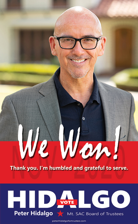 We won! Thank you. I'm humbled and grateful to serve.